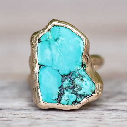 gold_raw_turquoise_ring_bohemian_gypsy_jewellery_indie_and_harper