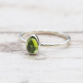 August Peridot Ring | Bohemian Festival Gypsy Jewelry | Indie and Harper