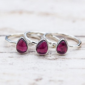 January Garnet Ring | Bohemian Festival Gypsy Jewellery | Indie and Harper