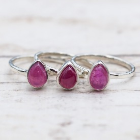 July Ruby Ring | Bohemian Festival Gypsy Jewellery | Indie and Harper