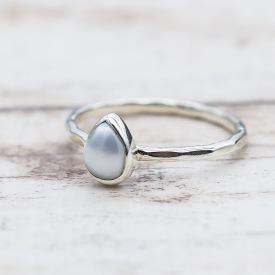 June Pearl Ring | Bohemian Festival Gypsy Jewelry | Indie and Harper