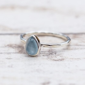 March Aquamarine Ring | Bohemian Festival Gypsy Jewelry | Indie and Harper