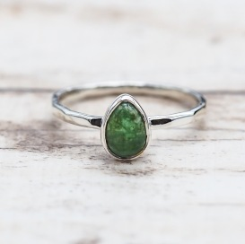 May Emerald Ring | Bohemian Festival Gypsy Jewels | Indie and Harper