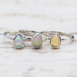 October Opal Ring | Bohemian Gypsy Jewels | Indie and Harper