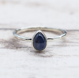September Sapphire Ring | Bohemian Festival Gypsy Jewels | Indie and Harper